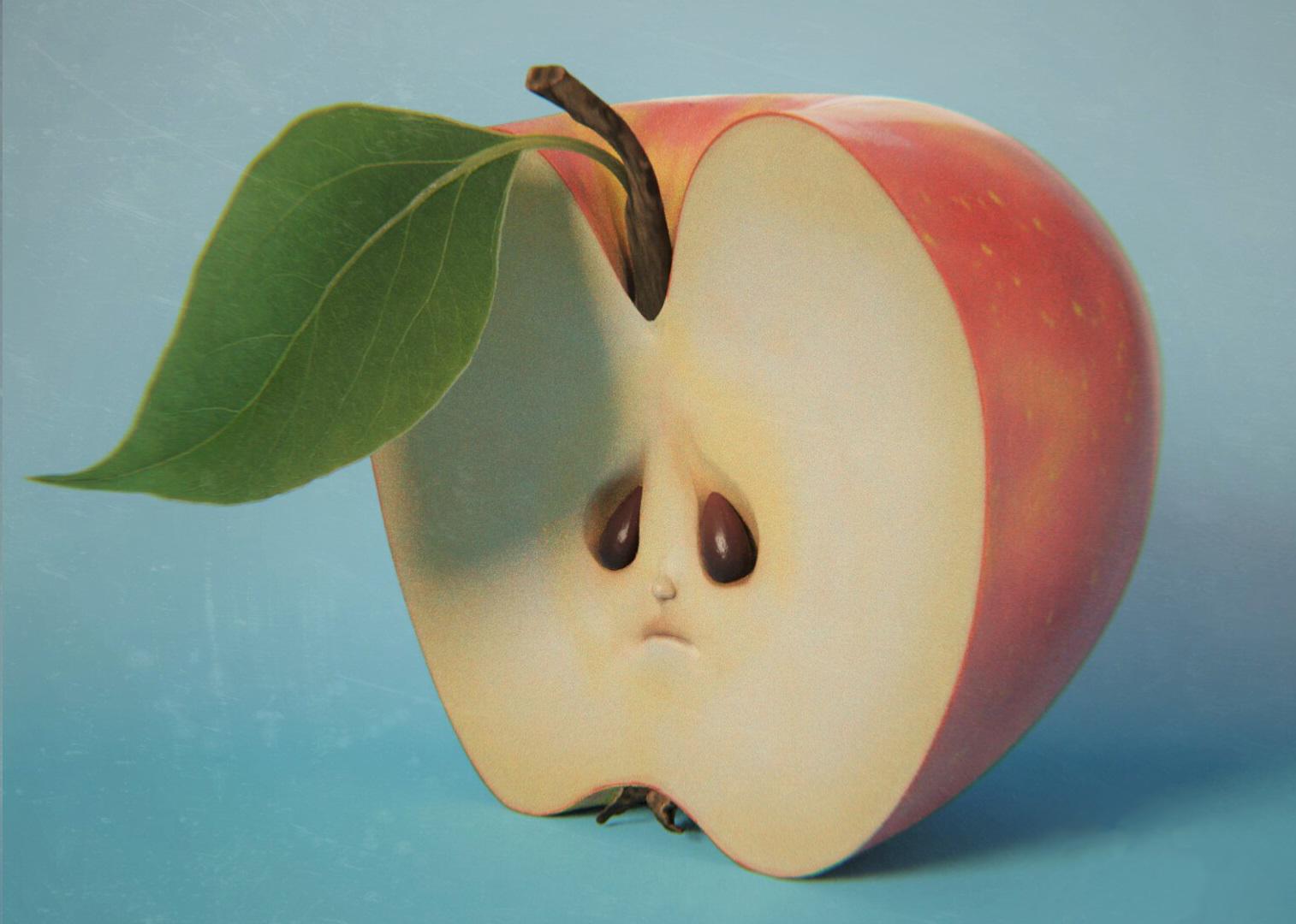 Manzanas aburridas